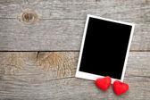 Ramki do zdjęć i serca cukierków — Zdjęcie stockowe