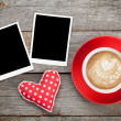 Two photo frames with coffee cup — Stock Photo #38710951
