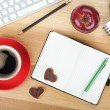Coffee cup and office supplies — Stock Photo #38710973