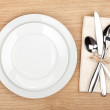 Empty plate and silverware set — Stock Photo #38711109