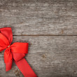 Stock Photo: Red bow and ribbon