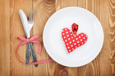 Valentine's Day toy heart — Stock Photo