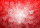 Valentine's day red hearts background — Foto Stock