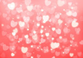 Valentine's day pink hearts background — Stock Photo