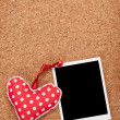 Blank instant photo and red heart — Stock Photo #39570093