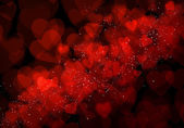 Valentine's day red hearts background — Photo
