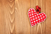 Red Valentine's day heart toy — Stock Photo