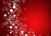 Valentine's day red hearts background — Stock Photo