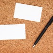 Two business cards and pen — Stock Photo #40507913