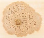 Masa de pan de jengibre para galletas de navidad — Foto de Stock