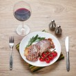 Sirloin steak with rosemary — Stock Photo #40978767
