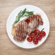 Stock Photo: Sirloin steak with rosemary