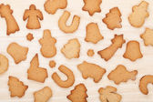 çeşitli zencefilli kurabiye — Stok fotoğraf