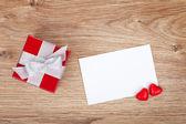 Valentines greeting and gift box — ストック写真