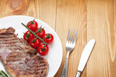 Sirloin steak on a plate — Stock Photo