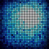 Abstrakte pixel mosaik hintergrund mit farbverlauf — Stockvektor