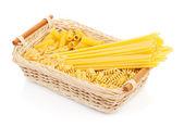 Pasta in basket — Foto de Stock