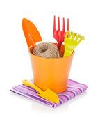 Garden tools in flower pot — Foto de Stock