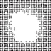 Abstract dotted grayscale background — Stock Vector