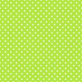 Seamless green polka dot background — Stock Vector