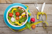 Fresh healty salad — Stock Photo