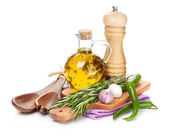 Spices, herbs and condiments — Stock Photo