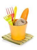 Garden tools in flower pot — Photo