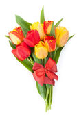 Fresh colorful tulips bouquet — Stock Photo