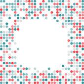 Abstrakt prickade färgstarka bakgrund — Stockvektor