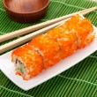 Sushi maki with tobiko — Stock Photo