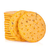 Stack of crackers — Stock Photo