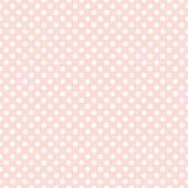 Seamless pink polka dot background — Stock Vector