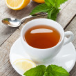 Green tea with lemon and mint — Stock Photo #48294317