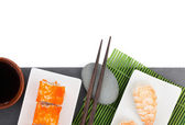 Sushi maki and shrimp sushi — Stock Photo