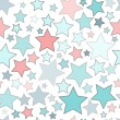 Seamless background with colorful stars — Stock Vector #48472595