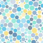 Seamless background with colorful dots — Stock Vector