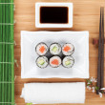 ������, ������: Maki sushi with sakura branch