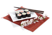 Sushi maki with salmon — Stock Photo