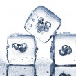 Постер, плакат: Melting ice cubes