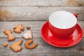 кофе кубок и пряники печенье — Стоковое фото