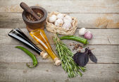 Herbs, spices and seasoning — Foto Stock