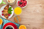 Healty breakfast  with copy space — Stock Photo