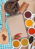 Various spices selection — Foto Stock