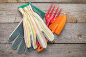 園芸工具および手袋 — ストック写真
