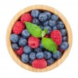 Постер, плакат: Blueberries and raspberries