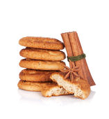 Cookies with spices — Stock Photo