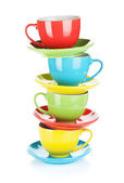 Set of colorful cups — Stock Photo