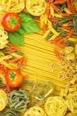 Italian pasta background — Stock Photo