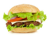 Fresh burger with beef — Stock Photo