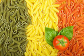 Pasta Italian flag — Stock Photo